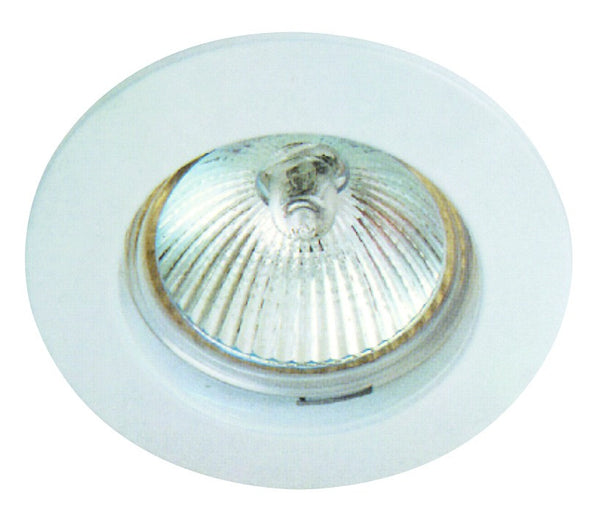WHITE 80mm FIXED DOWNLIGHT MR16