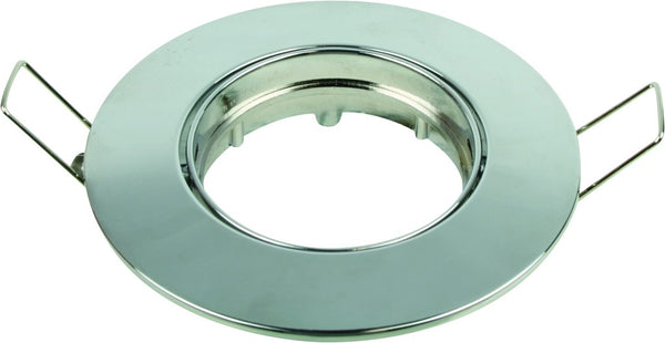 CHROME ZINC ALLOY FIXED DOWNLIGHT GU10 LAMP