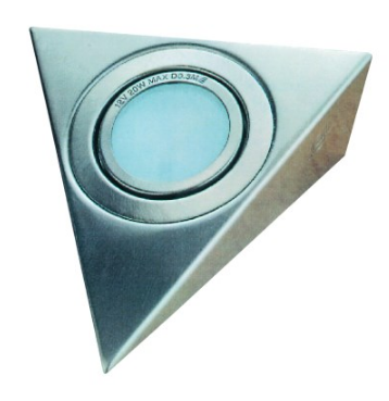 SATIN NICKEL TRIANGLE D/LIGHTER G4 LAMP