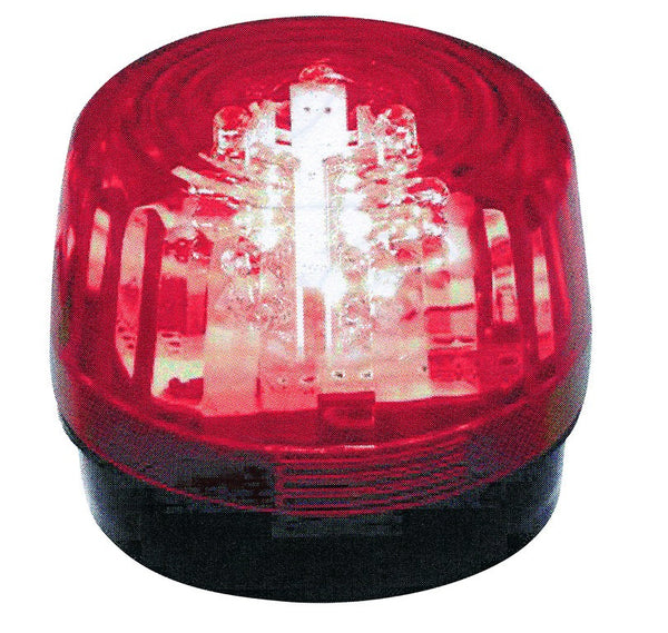 6/14VDC RED LED STROBE LIGHT IP65