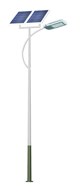 SOLAR STREET LAMP 6M POLE + LED 60W, EXCLUDES BATTERIES