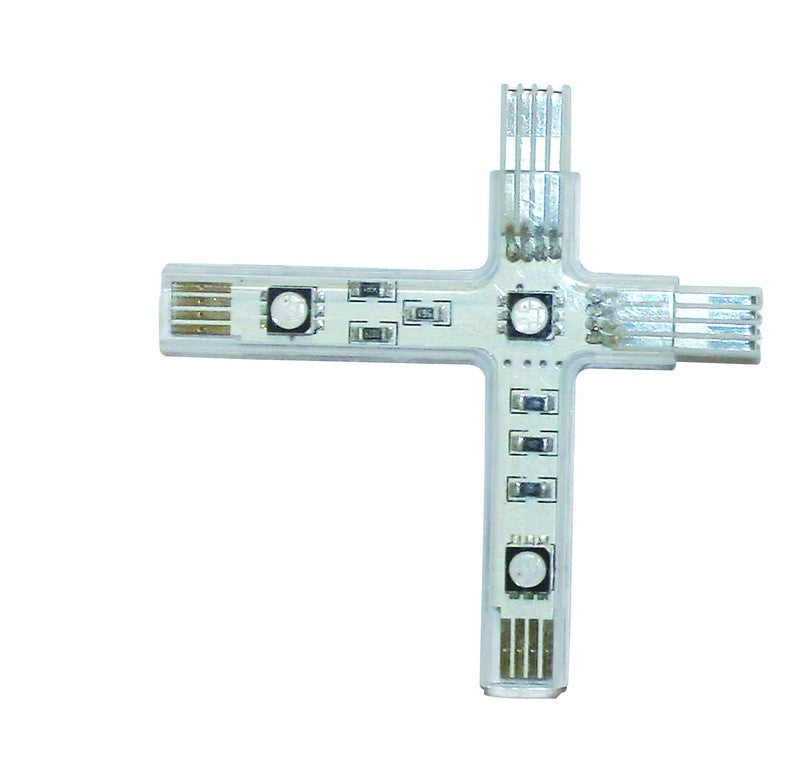 RIGID CROSS CONNECTOR 3LED RED