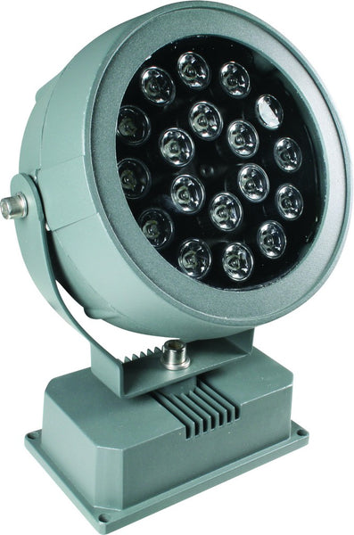 230V LED RED FLOODLIGHT 18x1W IP65