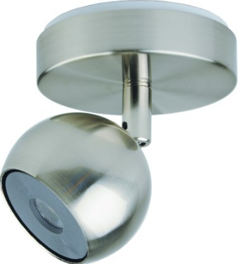 230VAC 5W BRUSHED NICKEL LED INTEGRATED ADJ.SPOT LIGHT 4000K