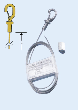 5M STAINLESS STEEL HOOK- WIRE DIAMETER 1,5MM
