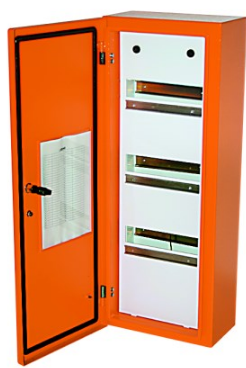 4x30(120) WAY IND STEEL SURF DIN DB IP65 ORANGE