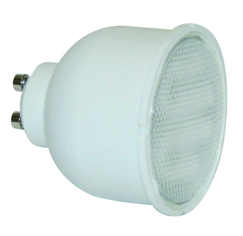 7W DIFFUSED WARM WHITE 2700K GU10 CFL