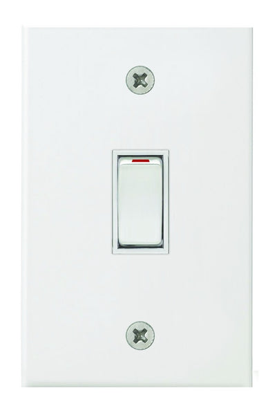1-LEVER 2-WAY SWITCH 2x4 C/W WHITE STEEL COVER PLATE
