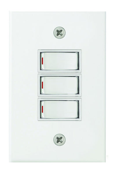 500W ROTARY DIMMER ON/OFF STEEL COVER PLATE