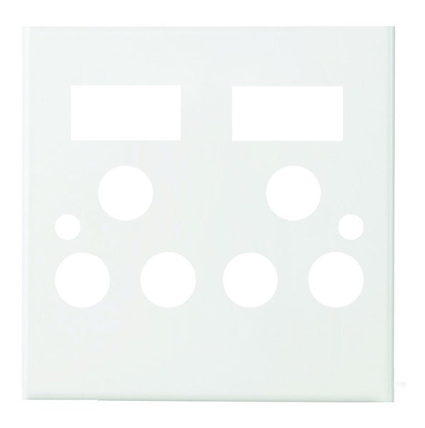 WHITE STEEL COVER PLATE FOR 4x4, 2 X16A SWITCH SOCKET