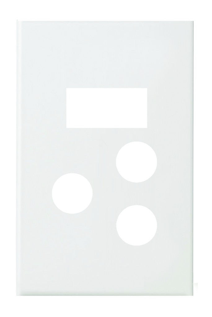 WHITE STEEL COVER PLATE FOR 4x2 SWITCH SOCKET