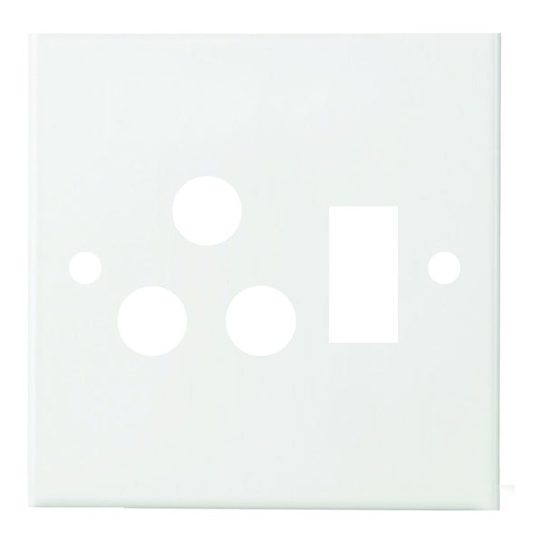 SILVER STEEL COVER PLATE FOR 4x4 SWITCH SOCKET