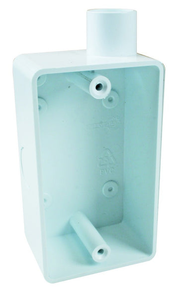 4X2 SPOUTED PLASTIC WALL BOX