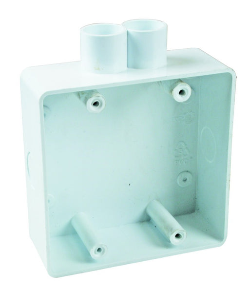 4X4 SPOUTED PLASTIC WALL BOX