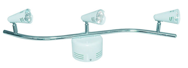 3-LIGHT LOW VOLTAGE CEILING FITTING WHITE
