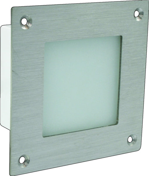 12VAC/DC GREEN LED LIGHT PLASTIC IP68 80x80x42