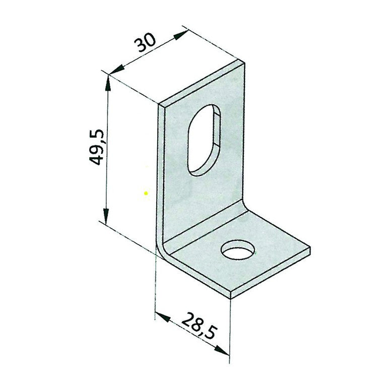 GALV BRACKET FOR MOUNTING STA AND STF VERTICAL PROFILES