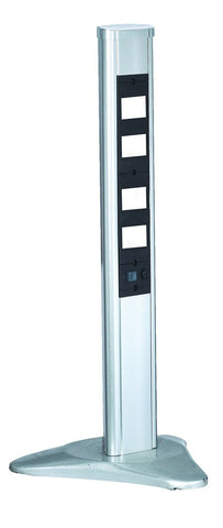 1 METRE FLOOR MOUNT POWER COLUMB(EMPTY)8 MODULE