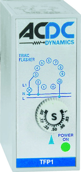 FLASHER 1 TRIAC OUTPUT .02-1SEC