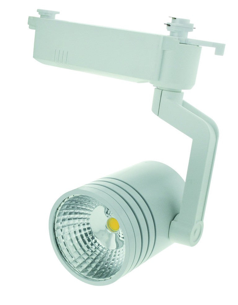 110-265VAC 12W BLACK LED TRACK LIGHT COOL WHITE.FIXED ANGLE