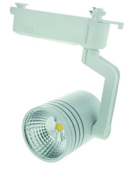 110-265VAC WHITE LED TRACK LIGHT 12W WARM WHITE.FIXED ANGLE