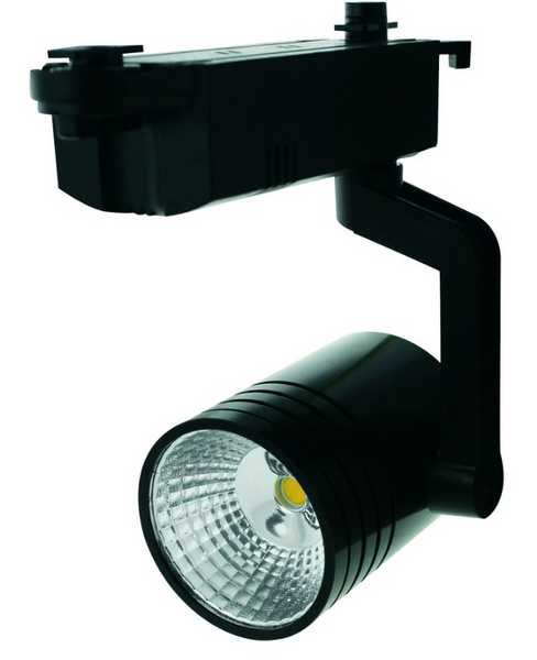 110-265VAC BLACK LED TRACK LIGHT 7W WARM WHITE.FIXED ANGLE