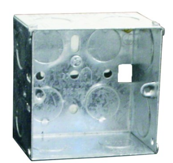 GALVANISED WALL BOX FOR 3X3 DEVICE 71X71X35MM