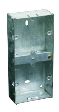 GALVANISED WALL BOX FOR 2X 3X3 DEVICE 151X71X35MM