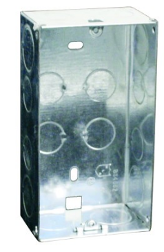 GALVANISED WALL BOX FOR 6X3 DEVICE 131X71X47MM