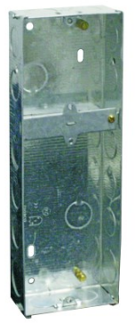 GALVANISED WALL BOX FOR 1X 3X3 & 1X 6X3 215X71X35MM