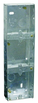 GALVANISED WALL BOX FOR 3X 3X3 DEVICE 248X71X35MM