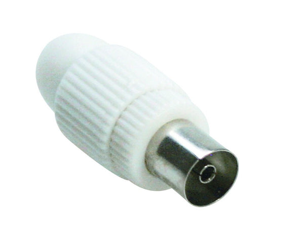 COAXIAL FEMALE TV PLUG 9.5mmD PLASTIC/2