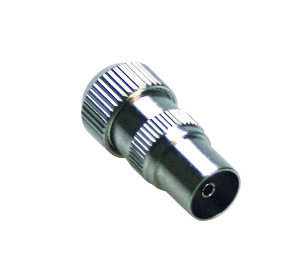 COAXIAL FEMALE TV PLUG 9.5mmD METAL/2