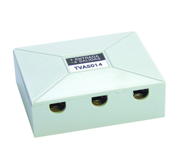 TV SPLITTER 4-WAY 9.5mmD