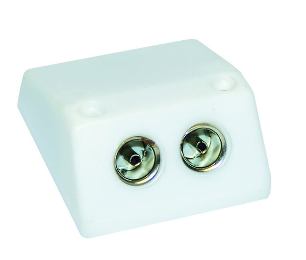 TV COAXIAL JACK BOX 2xFEMALE 9.5mmD