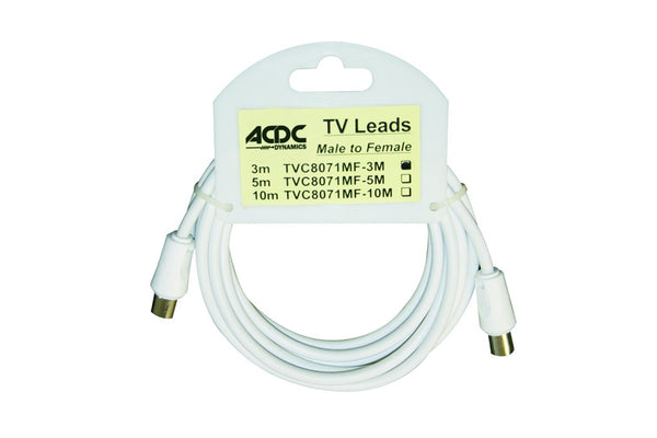 TV RF LEAD 75 OHM MALE TO FEMALE /10M