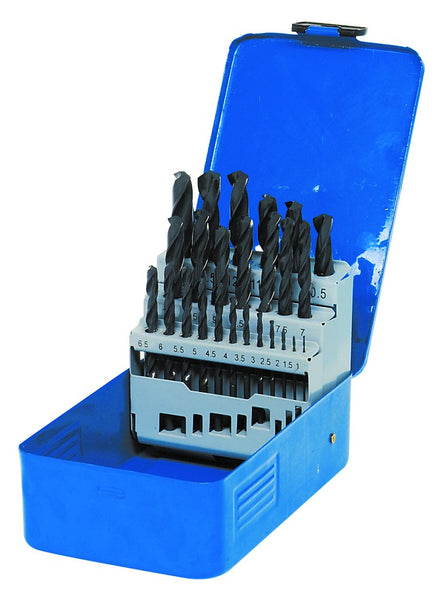 TWIST DRILL SET 25 PIECE (YELLOW)