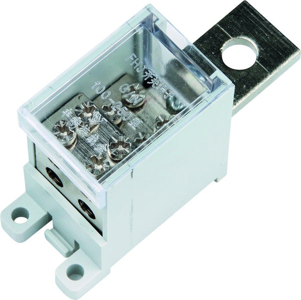 100A 20P x 9.5 x 5MM IN AND 4 x 16MM SQ OUT TERMINAL BLOCK