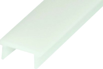 """U"" PROFILE CLEAR COVER FROSTED 3.1m LENGTH"