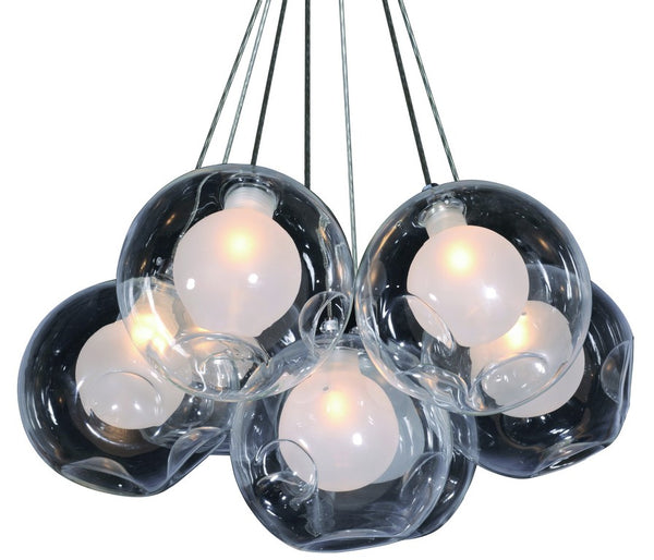 230V 7X40W E27 GLASS BALL PENDANT LIGHT