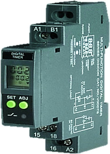 MULTIFUNCTION(X8) TIMER,DIN MOUNT,24-240VAC/DC