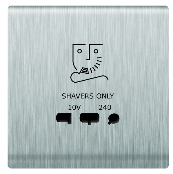 SHAVER SOCKET S/STEEL FOR 3X3 BOX