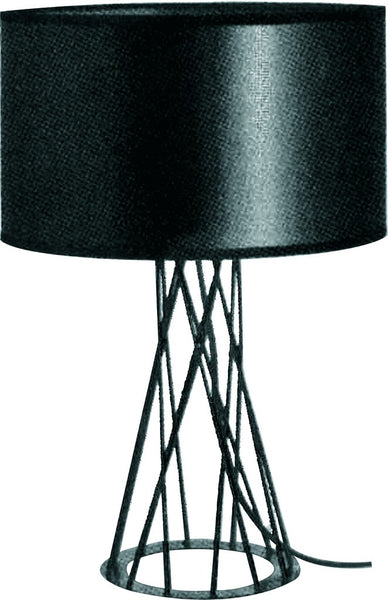 230VAC 40W 1XE27 TABLE LAMP AND SHADE BLACK