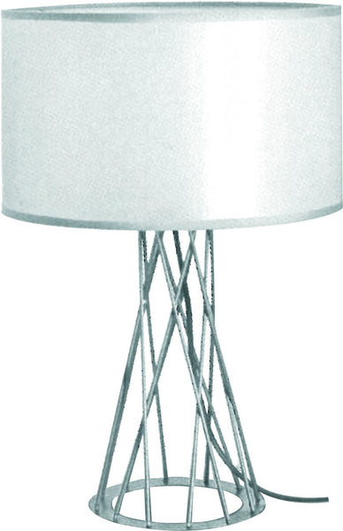 230VAC 40W 1XE27 TABLE LAMP AND SHADE WHITE