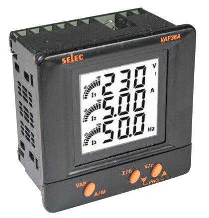 115VAC 3 ROW LCD MULTI FUNCTION METER  96X96