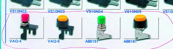 PUSHBUTTON YELLOW FOR VS15P01C MICRO SWITCH