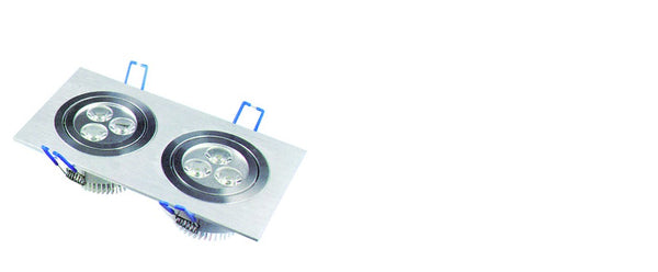 80/265V LED DOWNLIGHT COOL WHITE 2x3W 175x90x50MM