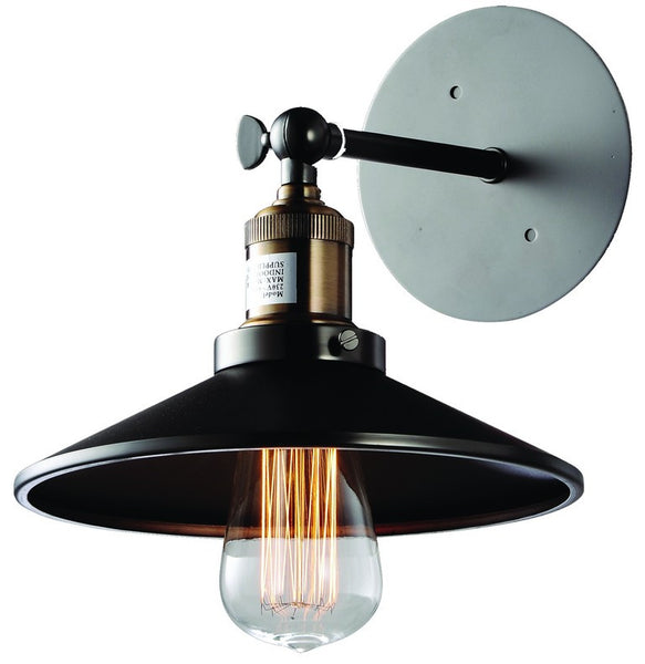 230VAC 100W E27 WALL LIGHT BRONZE/BLACK FINISH