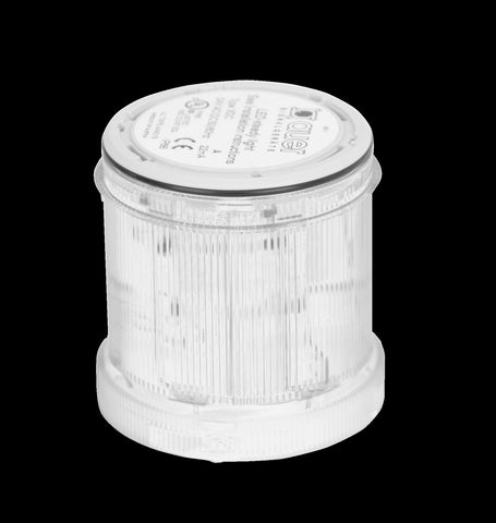 110-120VAC FLASHING CLEAR LIGHT LED 2Hz 70mm