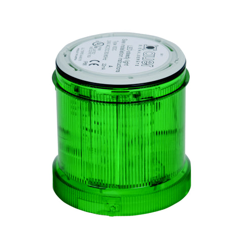 110-120VAC FLASHING GREEN LIGHT LED 2Hz 70mm